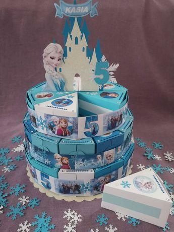 Tort z papieru dla dziecka , na cukierki