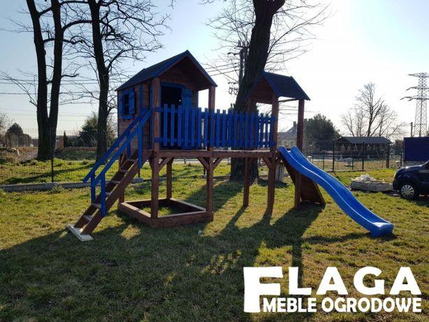 Plac zabaw, domek dla dzieci, wieżyczka, zjeżdżalnia PRODUCENT