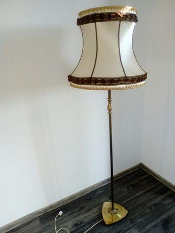Mosiężna lampa stojąca antyk podłogowa E27