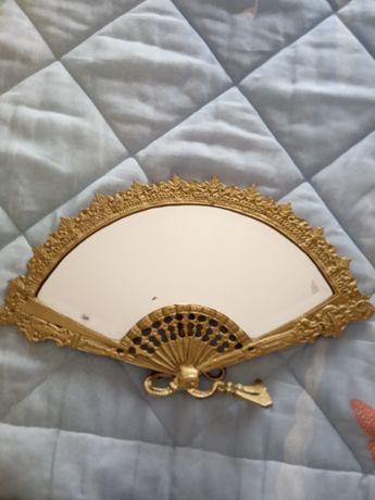 Leque espelho vintage
