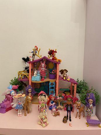 Энчантималс лесной домик И 12 кукол в подарок!!!