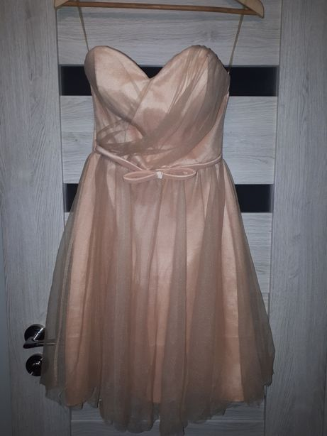 Sukienka wizytowa balowa na wesele księżniczka r.M