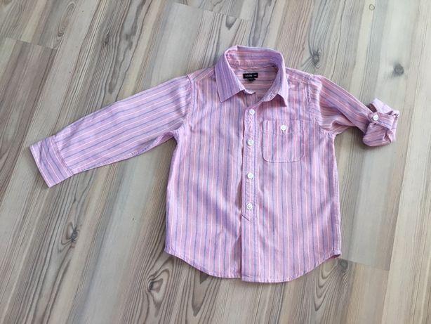 Рубашка gap 4 года сорочка полоска розовая