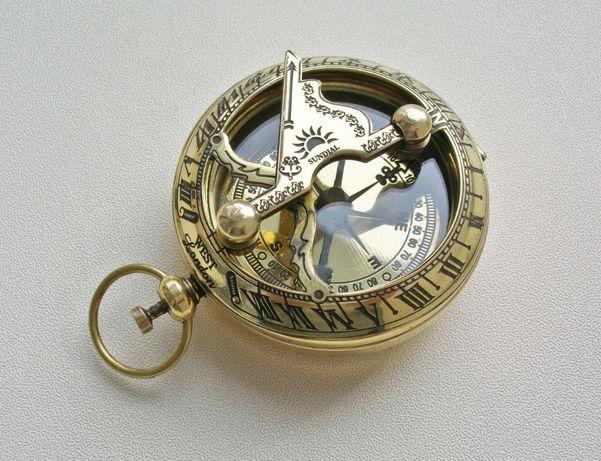 Карманный компас с солнечными часами West London. Новый.