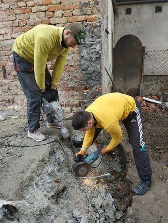 Демонтаж сантехкабин, ванн, кафеля, Демонтажные работы