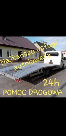 Autolaweta Pomoc drogowa Laweta Holowanie Transport CZĘSTOCHOWA