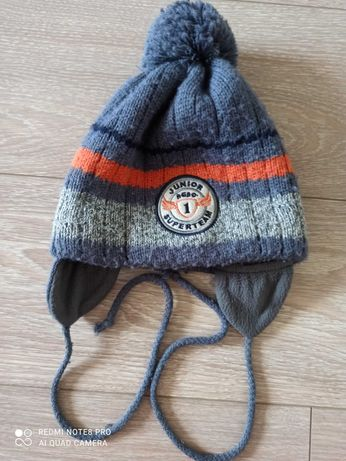 Зимняя детская шапка на флисе Аgbo Польша на 4-6 лет размер 48-51
