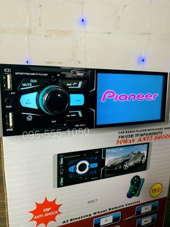 Автомагнитола сенсорная с экраном с блютузом флешка USB и micro SD