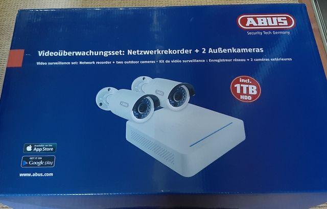Zestaw do monitoringu: rejestrator, dysk 1TB, dwie kamery, zasilacze..