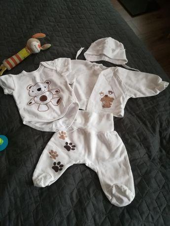Тёплый байковый комплект, набор для новорождённого 0-3 месяца
