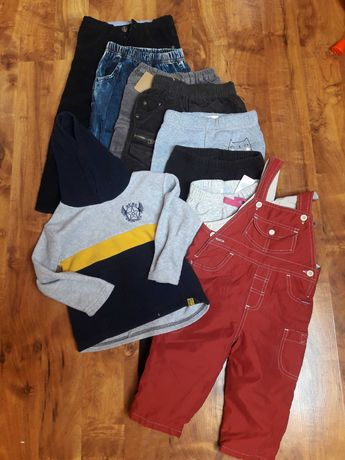 Paczka ubrań rozm.98 spodnie 8szt+bluza!