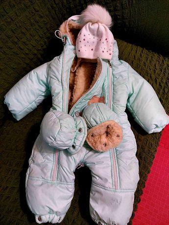 Комбинезон зимний детский для девочки