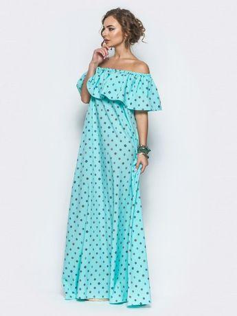 Платье в пол из струящейся ткани