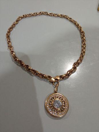 Золотая цепочка с кулоном 39 см