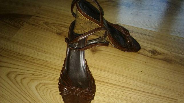Sandały damskie -brązowe