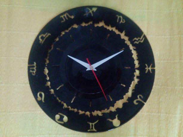 Годинник з платівки зодіак часы с винила зодиак