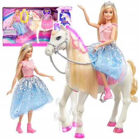Кукла Барби Приключение принцессы и Мерцающая интерактивная лошадка Ba