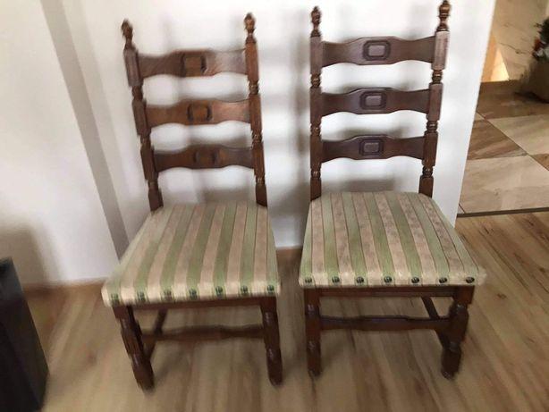 Krzesła mocne, drewniane, 8 szt