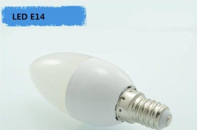Лампочки светодиодные 7W E14 свечи
