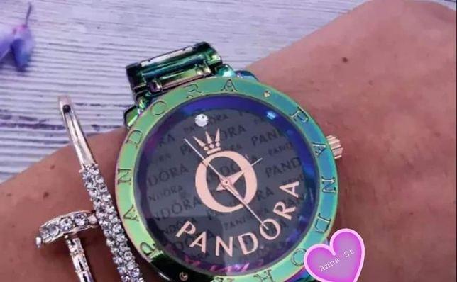 Zegarek damski Pandora premium cyrkonie stal nierdzewna