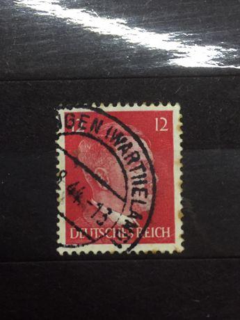 Znaczek Wartheland Hitler Okupacja posen