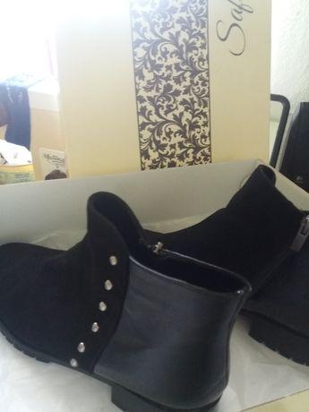 Ботинки новые 41 р-р натуральный замш