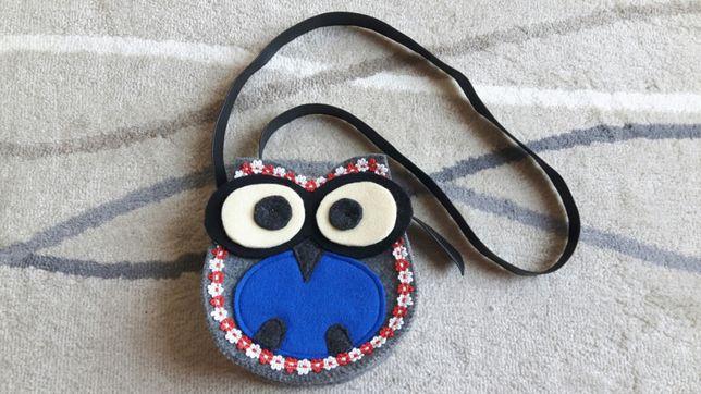 Torebka sowa z filcu - torba dla dziewczynki