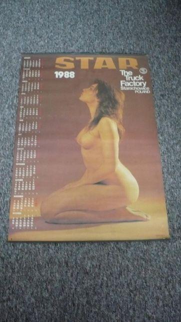 Oryginalny kolekcjonerski kalendarz FSC Star Starachowice z 1988 r.