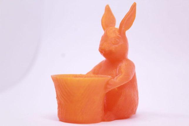 Zając królik wielkanoc ozdoba 3d