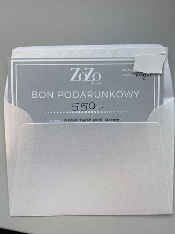 ZoZo Design bon podarunkowy 550zł