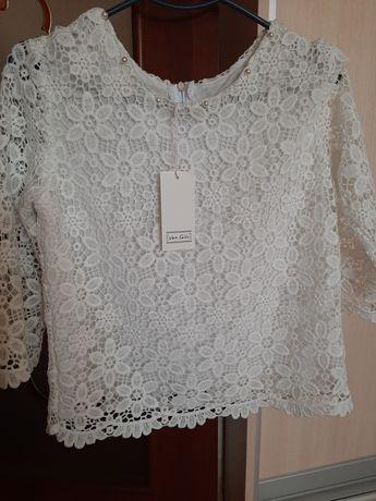 Нарядная кружевная блуза, блузка нарядна, кофточка