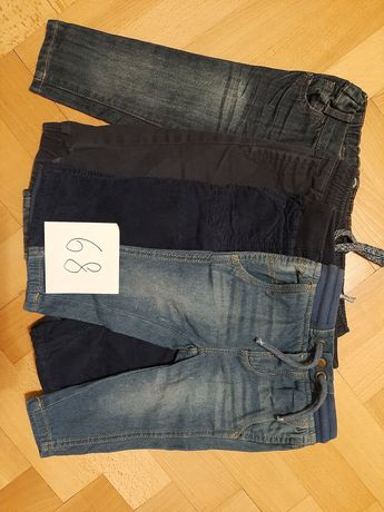 Zestaw 4szt. spodnie spodenki rozmiar 68