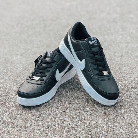 Кроссовки Nike черные с белыми полосками