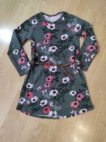 H&m sukienka z paskiem rozmiar 122 128 j Nowa