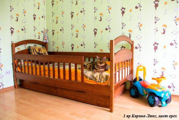 Односпальная детская кровать Каришка - весна от производителя