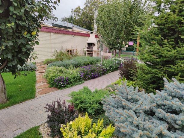 Услуги садовника, газон, стрижка, уход за садом, обслуживание участка