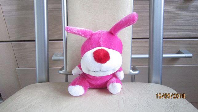 Маленькая ярко-розовая собачка мягкая игрушка состояние новой
