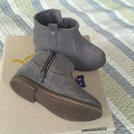 Ботинки демисезонные Zara 20р, замш