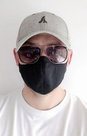 Maska na twarz sportowa, jednowarstwowa do biegania, na rower, fitness