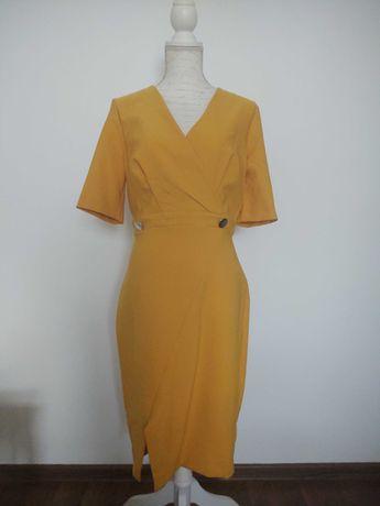 Sukienka wizytowa Orsay żółta r.40