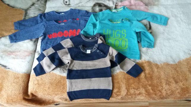 Bluzy sweterki bliźniaki 86