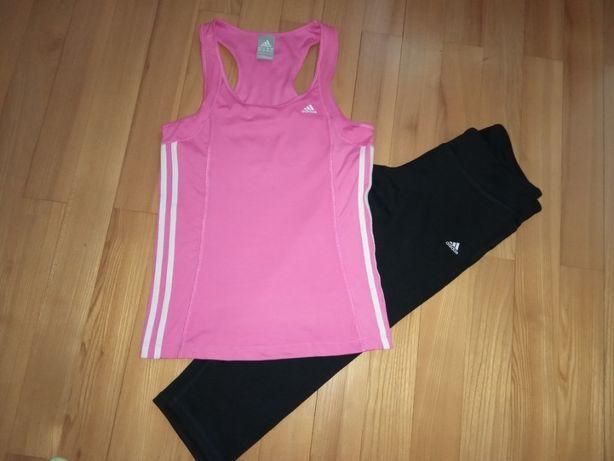 Спортивний комплект Adidas футболка лосіни майка Розмір L-М для тренув