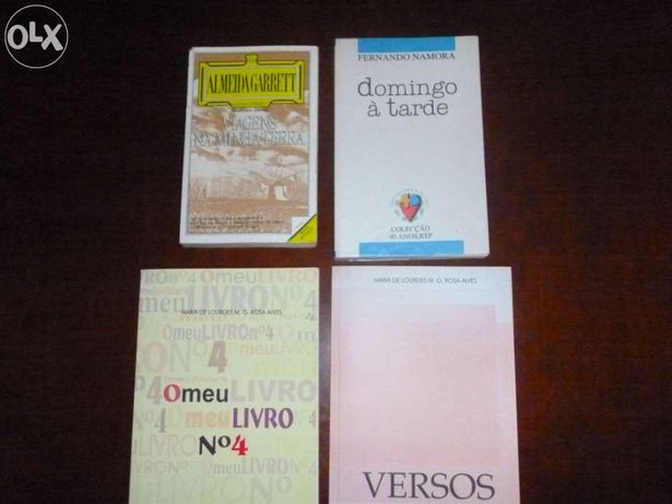 """Livros """"almeida garrett"""" / """"fernando namora"""" / """"maria de lurdes m.e.ro"""
