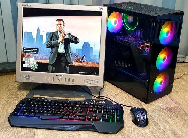 Продам Компьютер Игровой + Монитор + Клавиатура с мышью игровые