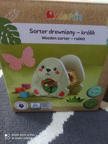 Sorter drewniany królik