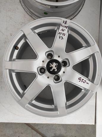 78 Felgi aluminiowe PEUGEOT R 16 4x108 Ładne