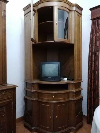 Móvel de canto sala, madeira. Em muito bom estado