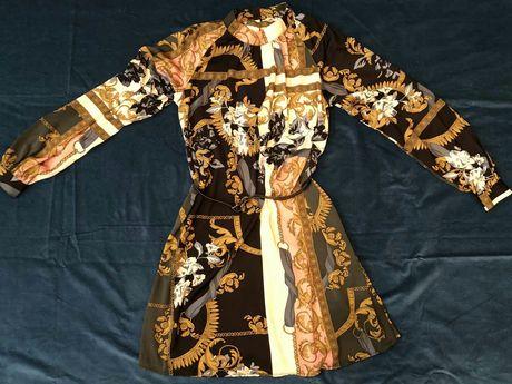 Новое шёлковое нарядное брендовое платье LINDEX Швеция 46-48р