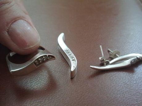 Pierścionek plus zawieszka i kolczyki - srebro