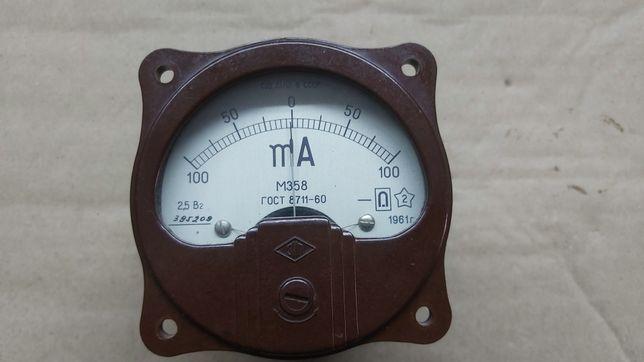 Амперметр М358,  1961г.